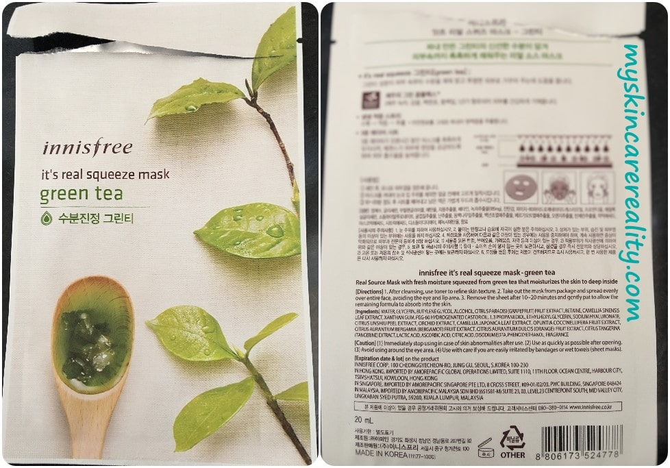 innisfree-Green-Tea-sheet-mask