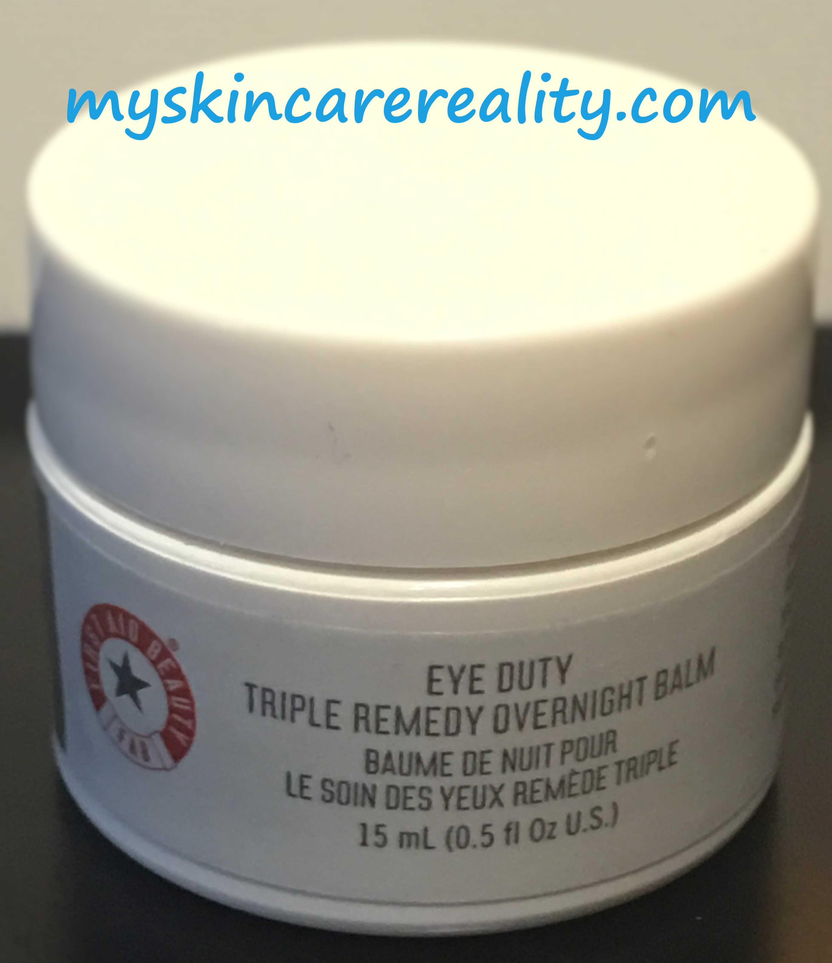 First Aid – Eye Duty Triple Remedy Overnight Balm Review
