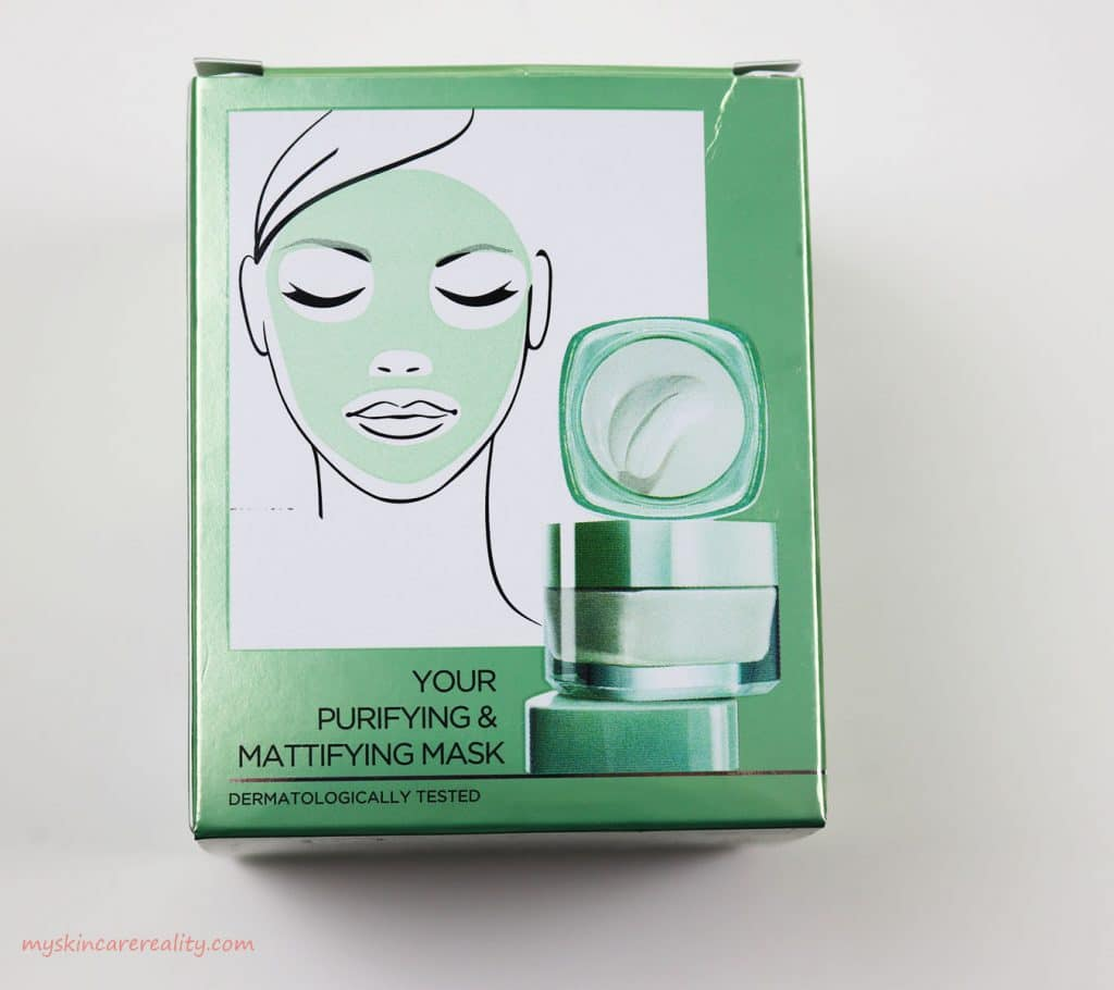 LOreal Pure Clay Mask Purifying - Mattifying Eucalyptus Mask Review Back Box