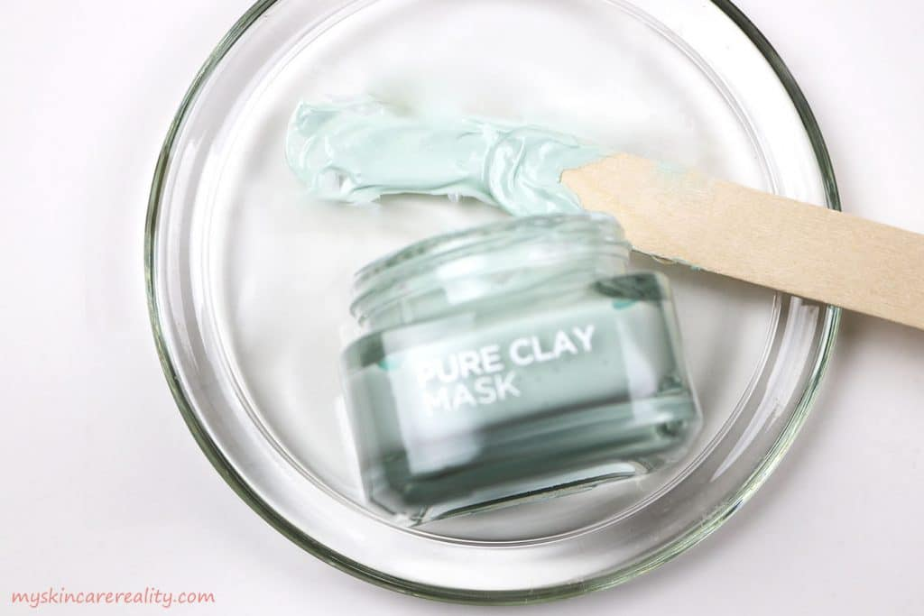 LOreal Pure Clay Mask Purifying - Mattifying Eucalyptus Mask Sample Review