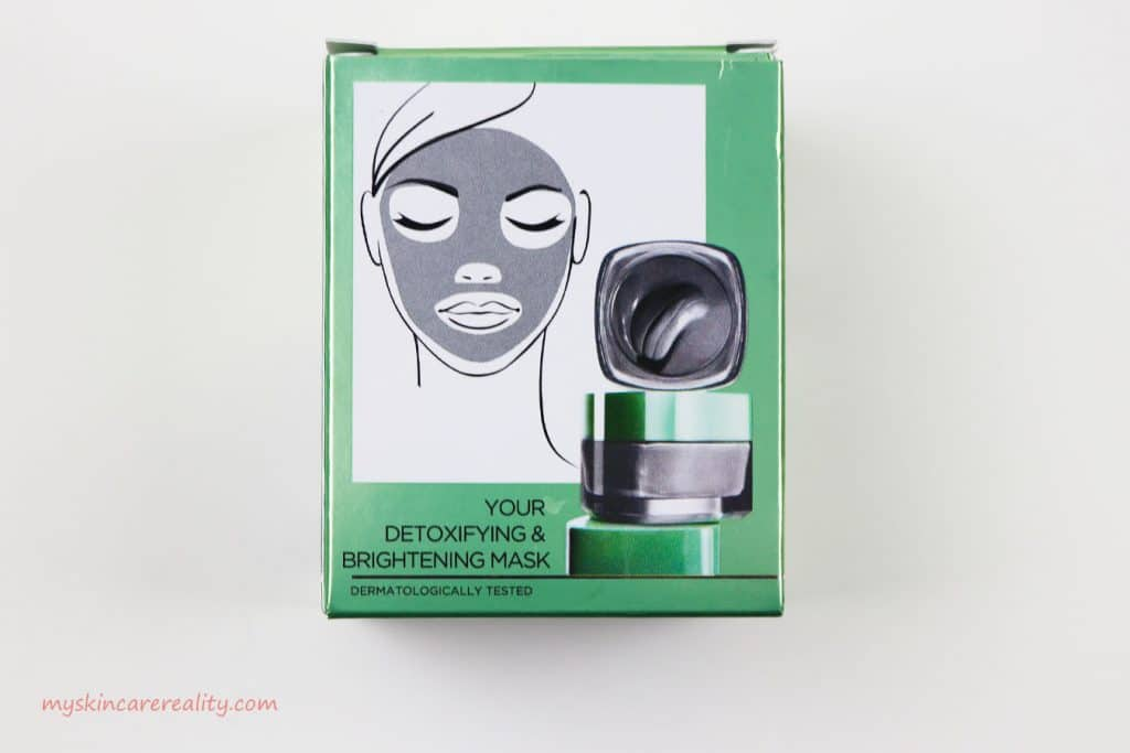 Pure Clay Mask Detoxifying - Brightening Charcoal Mask Review Back Box