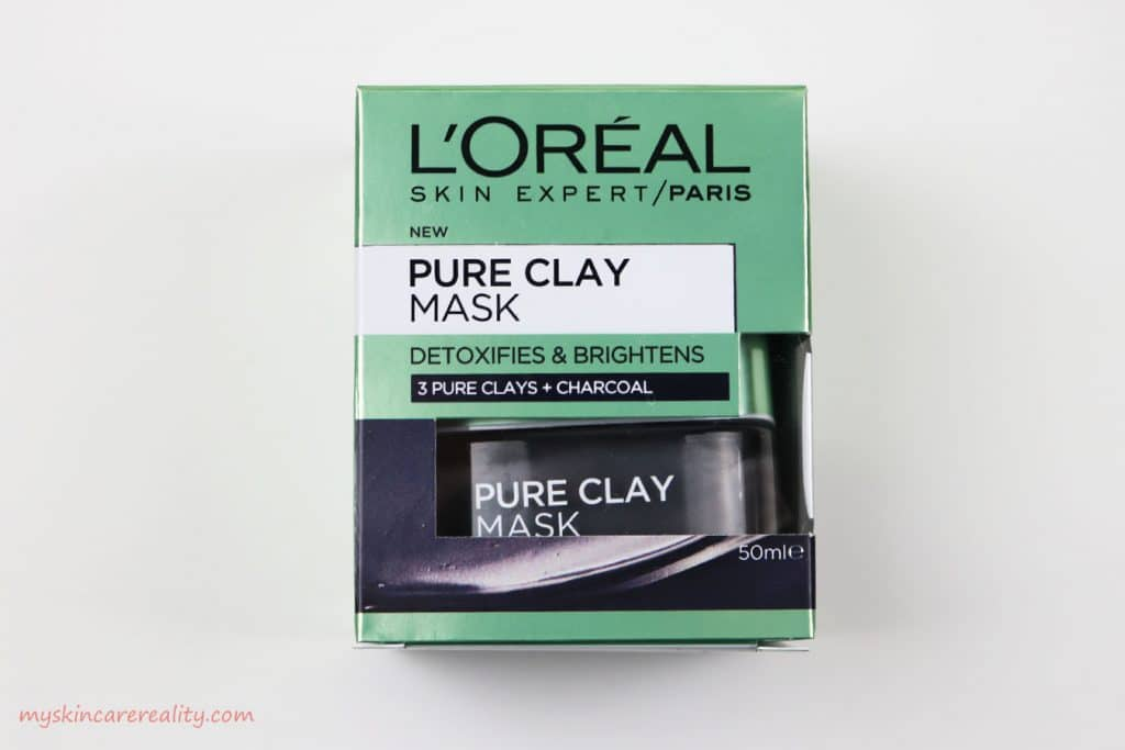 Pure Clay Mask Detoxifying & Brightening Charcoal Mask Review Front Box