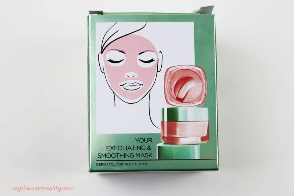Pure Clay Mask Exfoliating - Smoothing Red Algae Mask Review Back of Box