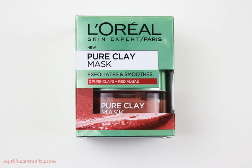Pure Clay Mask Exfoliating - Smoothing Red Algae Mask Review Front Box