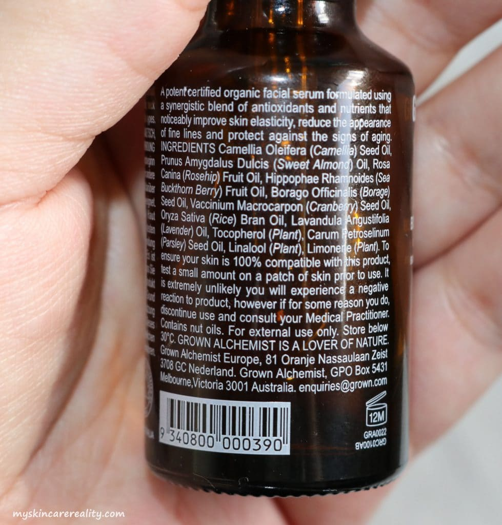 Grown Alchemist Facial Oil Review
