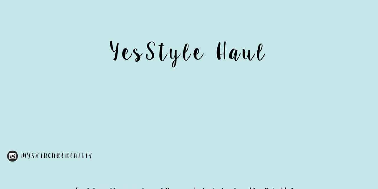 YesStyle Skincare Haul June & July 2017