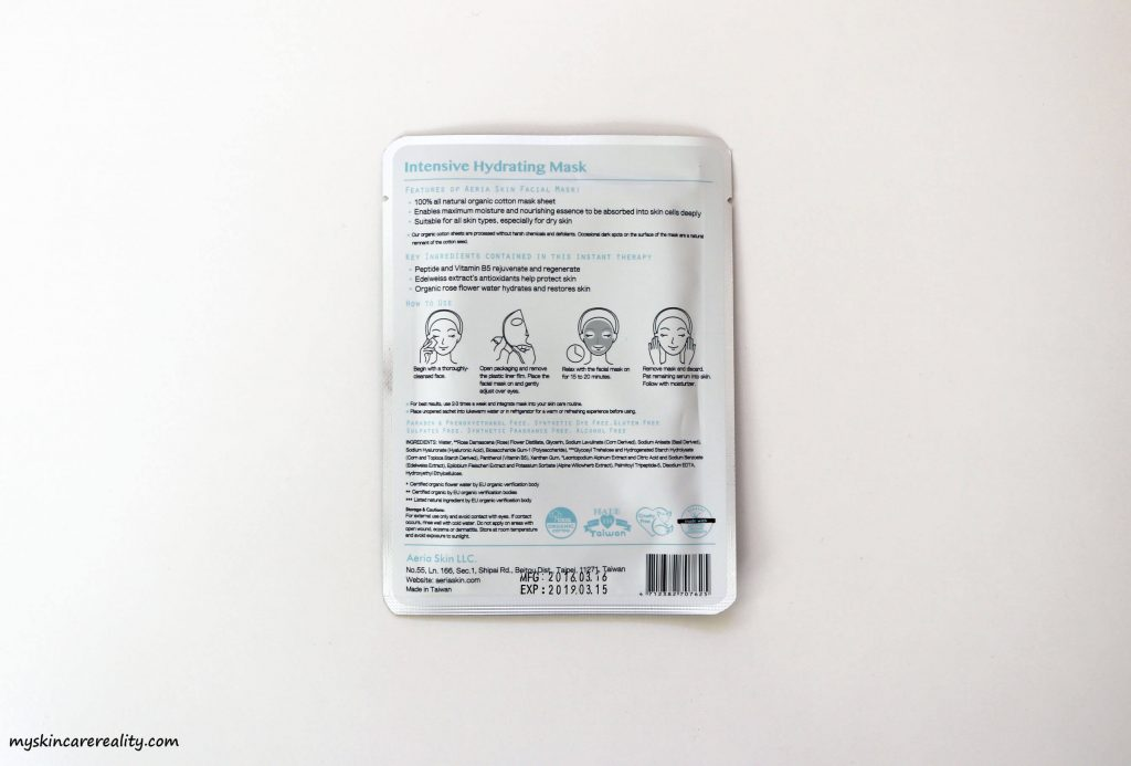 Aeria Skin Intensive Hydrating Mask Review 2