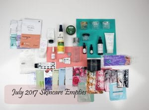 2017 July Skincare Empties