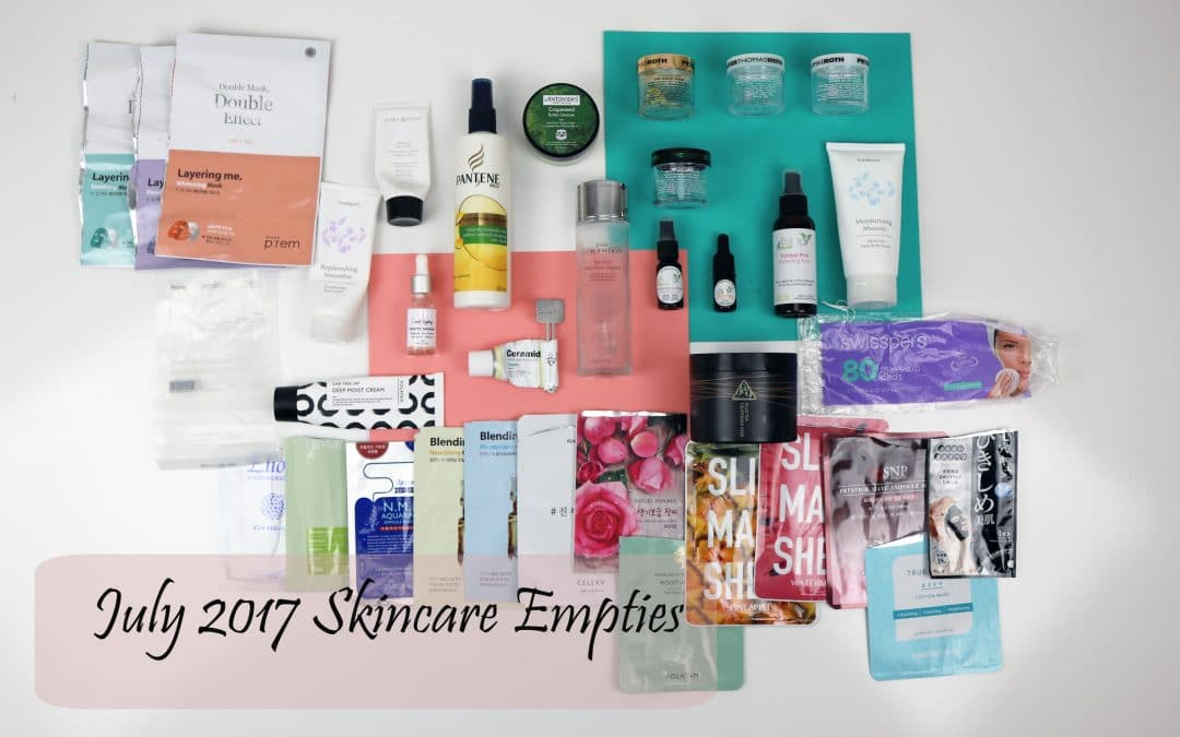 July 2017 Skincare Empties | My Skincare Reality