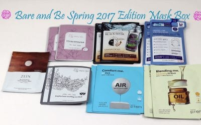 Bare and Be Spring Sheet Mask Subscription Box Unboxing | September 2017
