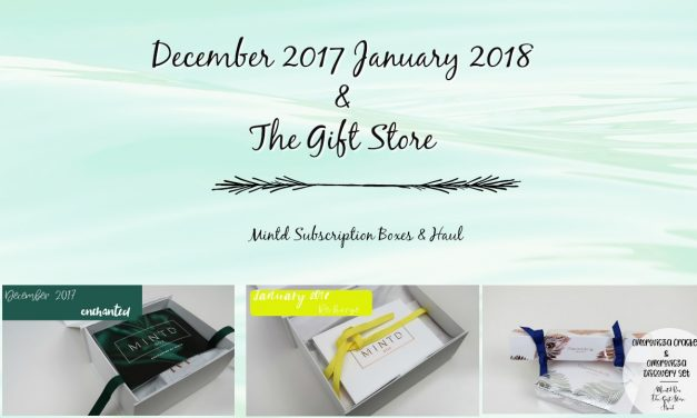 Mintd Box Subscription Unboxings | December 2017 | January 2018 | Omorovicza Haul